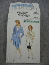 Misses 8-12  Unlined Fitted Jacket and Straight Skirt Vogue 7934  UC FF ... - $15.00
