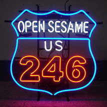 "New Route 66 open Sesame US 246 Logo Bar Light Lamp Neon Sign 24""x20"" - $182.33"