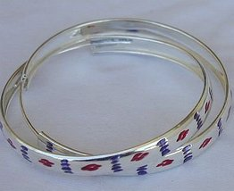 Purple and red hoop  - $32.00