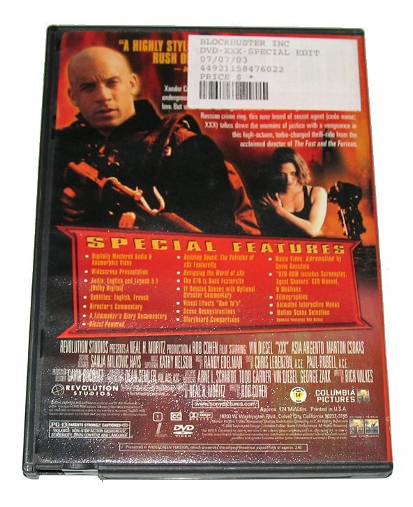 "DVD ""Triple X"" Vin Diesel Action Movie Adventure Spy Film ..."