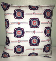 Chicago Fire Pillow Fire Pillow Chicago's Fire MLS Handmade in USA  Socc... - $9.97
