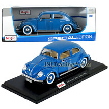 Maisto Special Edition 1:18 Scale Die Cast Car Blue 1955 Volkswagen KAFER-BEETLE - $49.99