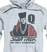 Star Trek The Next Generation Q USS Enterprise Retro 80's graphic hoodie CBS1373 image 2