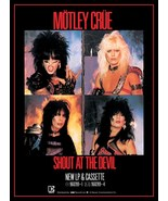 """Motley Crue Band """"Shout At The Devil"""" LP / Tape Reproduction Stand-Up Di... - $16.99"""