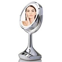 "OVENTE Dual-Sided 6"" Lighted Tabletop Makeup Mirror, Battery or Micro US... - $30.56"