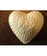 Ceramic Heart Shaped Candle - Light Gingham Scent - Yellow - $12.50