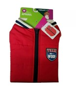 Vibrant Life Dog Jacket Size M Red Zip Up Team Woof Navy NWT - $10.87