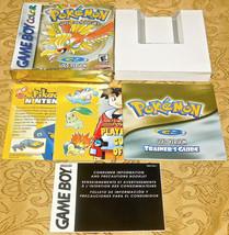 Pokemon Gold Versione Game Boy Colore Scatola Manuale Tutti Inserti No G... - $51.01