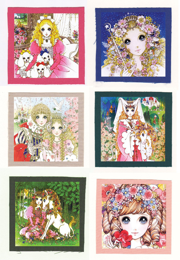 Macoto Takahashi 高橋真琴 anime artwork CLOTH PATCH SET ( 6 patches )