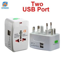 2 USB All in One Universal International Plug AC Adapter Charger AU US U... - $5.49+