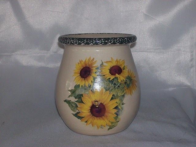 Sunflower Jar Home Garden Party Stoneware