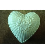 Ceramic Heart Shaped Candle - Light Gingham Scent - Pastel Green - $12.50