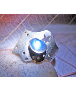 Haunted RING SEE DJINN ANGELS SPIRITS CRYSTAL EYE  MAGICK 925 WITCH Cass... - $59.77