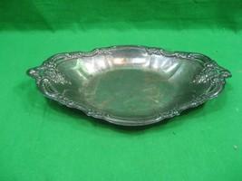 Vintage Communion Serving Dish Platter Silver Plated Intricate Design Details  - $12.16