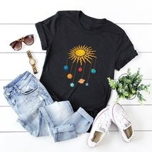 Plus Galaxy Print Rolled Sleeve Tee - $66.95