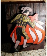 "Matador Relief  Wood Style Plaque 18"" X 14"" 1960's RETRO MID-CENTURY DECOR - $31.68"