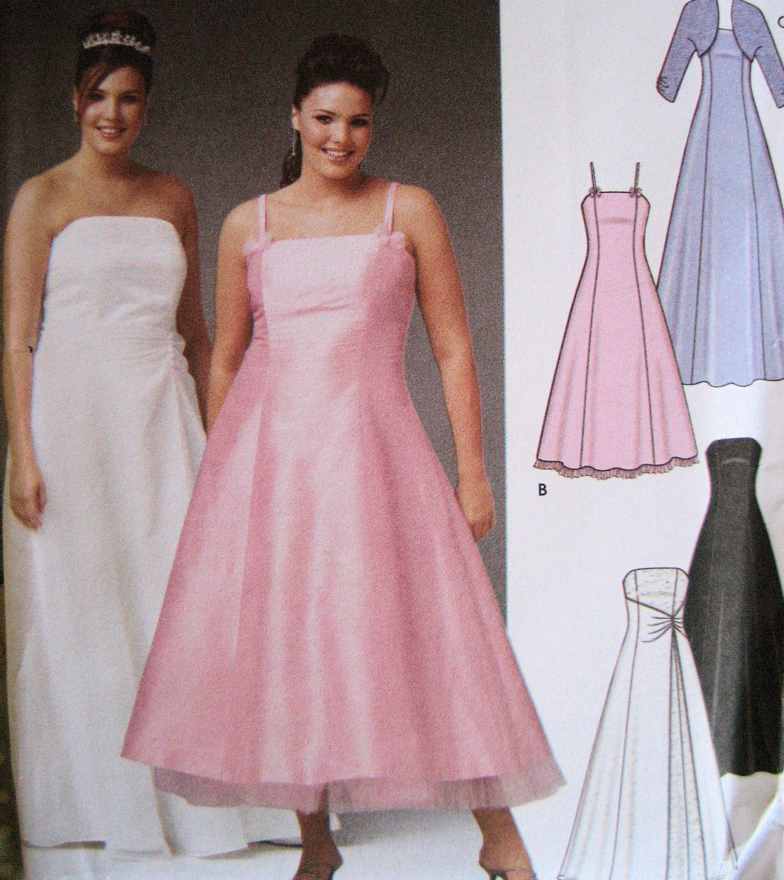 Simplicity 5207 New Evening Dress Bolero Pattern 18W to 24W Prom Brides Maid