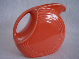 Fiesta Persimmon Large Disk Pitcher Fiestaware Contemporary - $40.00