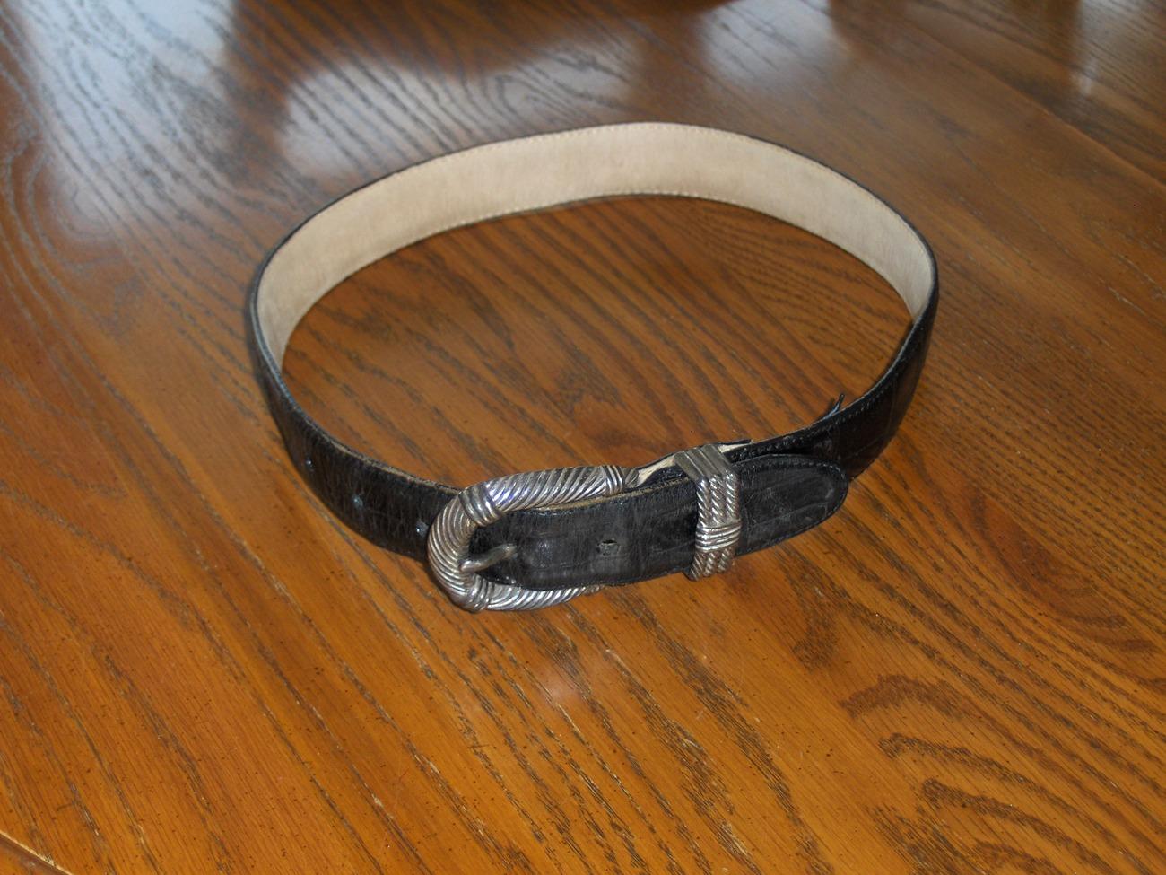 Brighton Black Leather Belt 29