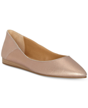 NEW LUCKY BRAND PINK BLUE LEATHER POINTY FLATS PUMPS SIZE 7.5 M 8 M $79 - $32.99