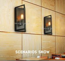 Retro Denton Glass Short Sconce E27 Light Wall Lamp Home Cafe Lighting Fixture - $91.74