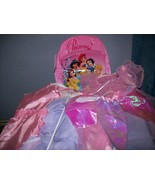 Disney princess backpack  with dressup clothes  - $7.00
