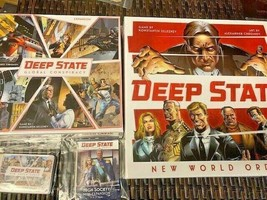 Deep State: New World Order - Board Game & Expansions - Kickstarter -=NEW=- - $89.95
