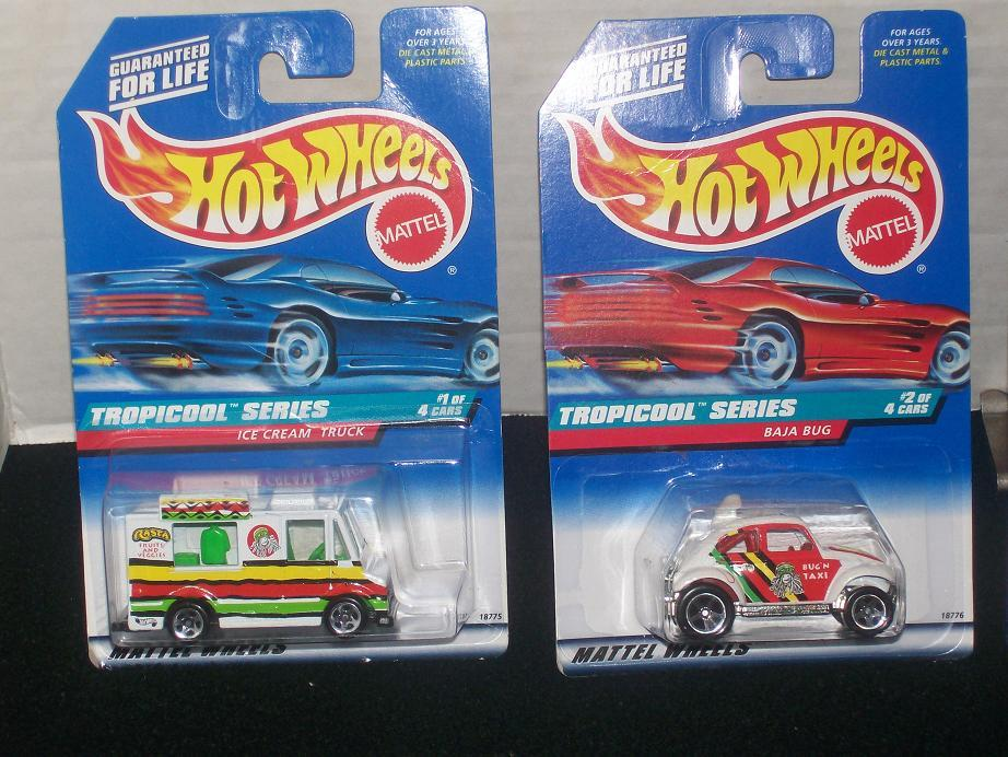 Hot Wheels Tropicool Complete 4 Vehicle Series
