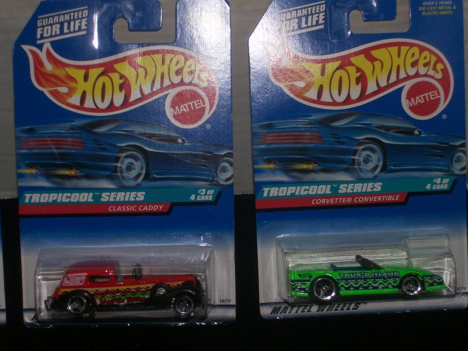 Hot Wheels Tropicool Complete 4 Vehicle Series