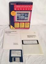 "CORRESPONDENCE MANAGER Vintage DOS 3.5"" & 5.25"" Disk Boxed Software Solu... - $14.84"