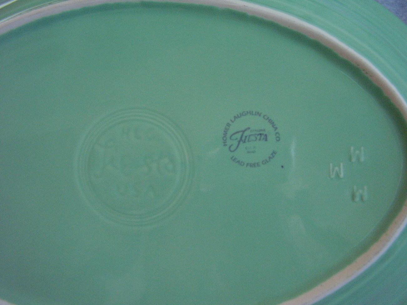 Fiestaware Contemporary Seamist Oval Platter
