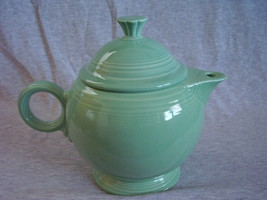 Fiestaware Contemporary Seamist Large Teapot with Lid - $38.40