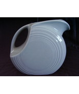 Fiestaware Contemporary Pearl Gray Large Disk Pitcher Fiesta - $68.00