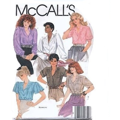 McCall's 8903 Misses' Blouses Pattern - Size 18