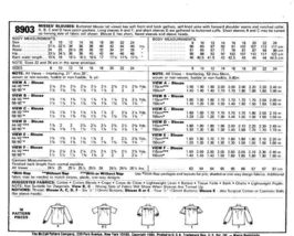 McCall's 8903 Misses' Blouses Pattern - Size 18 image 2