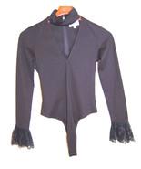 NWT Cinq a Sept black lace choker bodysuit Elara NEW Small - $67.50