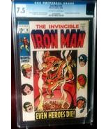 Iron Man (1968) # 18 CGC Graded 7.5 VF- - $59.99