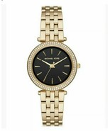 BRAND NEW MICHAEL KORS MINI DARCI MK3738 GOLD STAINLESS STEEL PAVE WOMEN... - £100.56 GBP