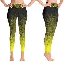 Black & Yellow Workout Leggings for Women Butt Lift Yoga Pants for Women... - $39.99+