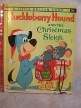 A Little Golden Book Huckleberry Hound Christmas Sleigh  403 - $8.59