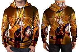 Dragon Ball Z Goku Saiya One Art Hoodie Zipper Fullprint Men - $46.80