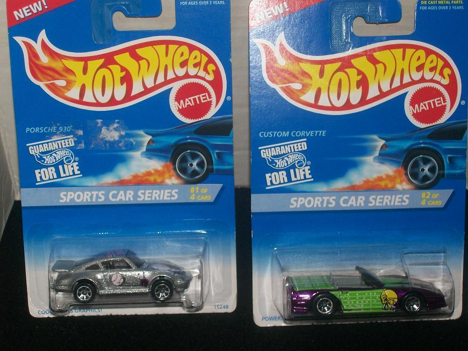 Hot Wheels Sports Car Series Complete Set of 4
