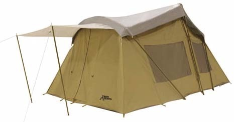Trek 16 x 10 canvas tent 3 rm sleeps 8 cabin tent with for Canvas tent fly