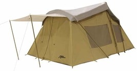 TREK 16 X 10 CANVAS TENT 3 RM SLEEPS 8 CABIN TENT WITH FULL FLY COVER - $660.99