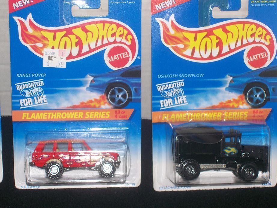 Hot Wheels Flamethrower Series Complete Set of 4
