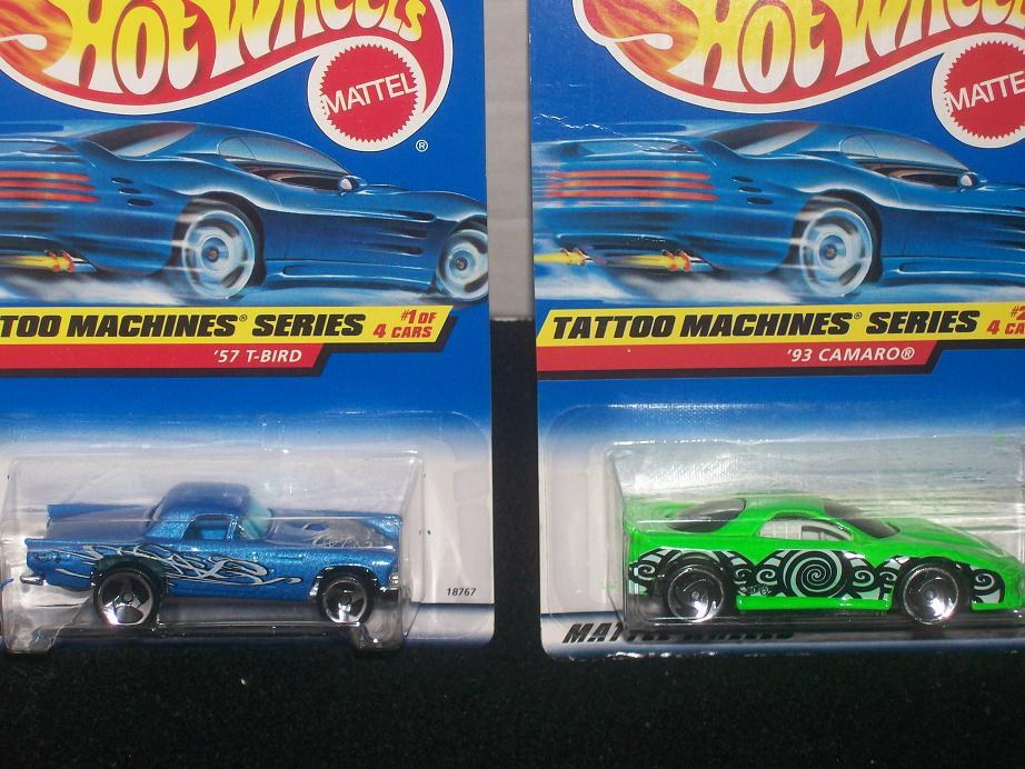 Hot Wheels Tattoo Machines Series Complete Set of 4
