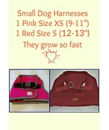 Dog Harnesses One Pink Size XS One Red Size S  - $10.00