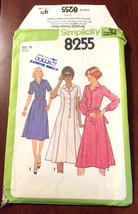 Simplicity 8255 Misses Shirt Dress Size 18 Vintage Uncut Sew Pattern USA... - $8.88