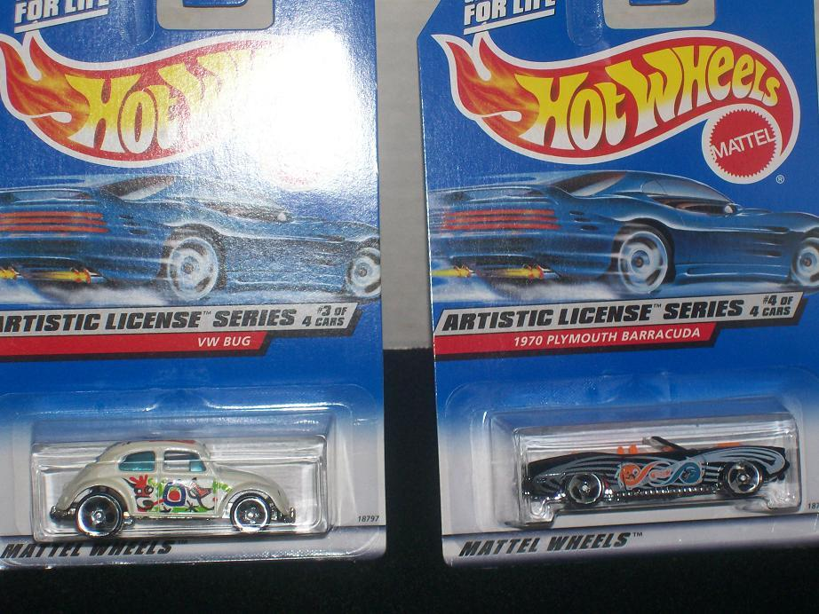 HOT WHEELS ARTISTIC LICENSE SERIES SET-4-NEW IN PACKAGE