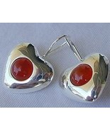 Reddish hearts earrings - $30.00